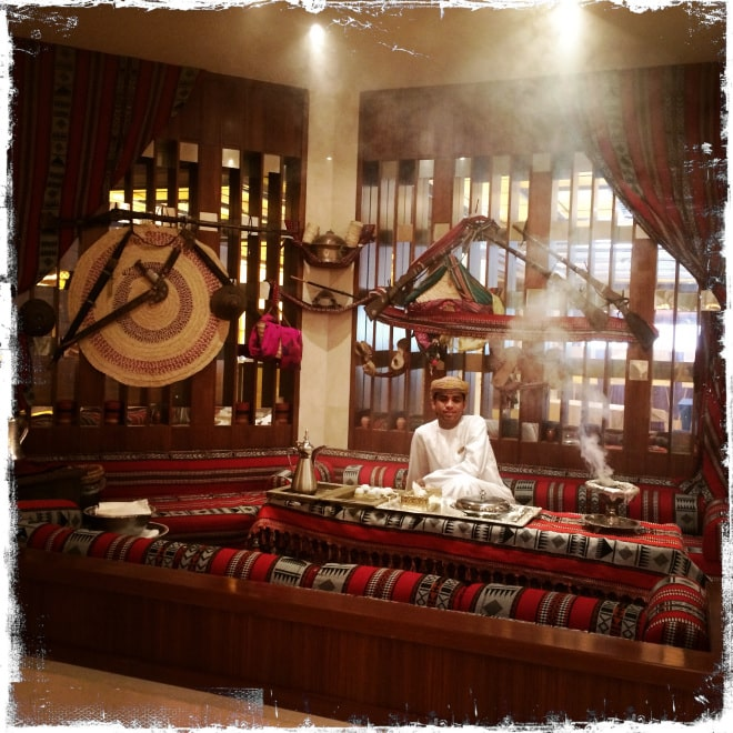 The scent of incense in the lobby of the Hotel Al Bustan (Photo: lela-djehuti-world.com)