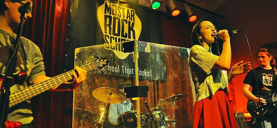 Mostar Rock School in concert im Musik-Center Pavarotti in Mostar April 2017 (Foto: Mostar Rock School)